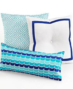 "Trina Turk Bedding, Caprice Medallion Wave Oblong 22"" x 10\"" Decorative Pillow"