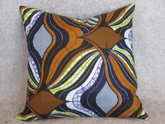 Cushion 1 - Open for more information and purchase details (www.prettyrooms.wordpress.com/products) #decor #home #cushion #decorating #interior Printed Cushions, Cushion Covers, Printing On Fabric, Wax, Wordpress, Vibrant, African, Colours, Throw Pillows