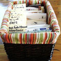 Clever Coupon Organization Ideas | Coupon Basket | AllYou.com