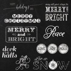 Christmas Chalkboard Elements and Clipart  by JubileeDigitalDesign, $5.00