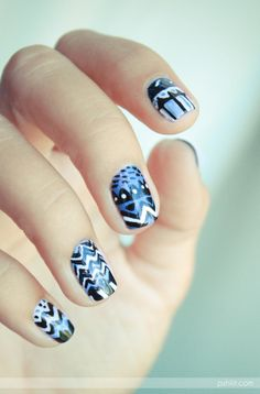 Essie  tribal nail art