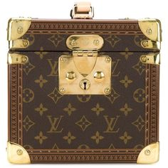 Pre-owned Louis Vuitton Vintage 'Boite Flacons' cosmetic bag ($4,335) ❤ liked on Polyvore featuring bags, handbags, brown, structured leather handbags, vintage purses, louis vuitton handbags, top handle handbags and brown leather purse