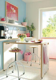 Mesa cozinha versátil