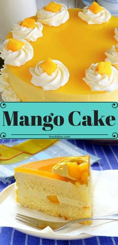 this Mango Cake recipe with a perfect balance of flavors that you will surely love. Bursting with fresh mango goodness from the filling all the way to the toppings. Perfect for desserts or that special cake for special occasions. Mango Dessert Recipes, Mango Recipes, Delicious Desserts, Healthy Recipes, Cooking Recipes, Good Desserts, Recipes For Desserts, Mini Cakes, Cupcake Cakes