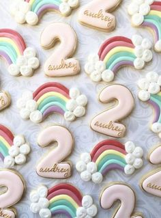 Super birthday cupcakes decoration for girls royal icing ideas hashtags 2nd Birthday Party For Girl, Rainbow First Birthday, 4th Birthday, Birthday Ideas, Rainbow Sugar Cookies, Sugar Cookie Royal Icing, Unicorn Cookies, Owl Cookies, Oreo