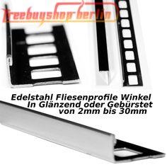 40x 250 cm Winkelprofil - 10 mm Fliesenprofil Fliesenschiene  Edelstahl GLÄNZEND