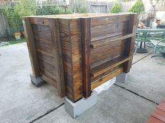 DIY Aquaponics, Reclaimed wood, Koi, IBC tote