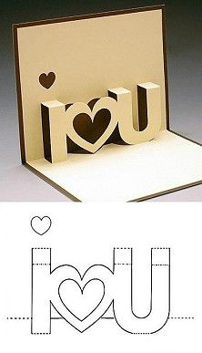 Cut cut, fold fold shows how to make a pop up card- easy with box cutters