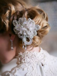 Handmade angel wing crystal hair comb; Gatsby hair accessory sparkling bridal; vintage insired haircomb; crystal hairpiece; crystal comb