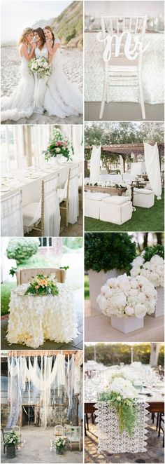 55  White Wedding Ideas for Romantic Wedding | http://www.deerpearlflowers.com/white-wedding-ideas-for-romantic-wedding/