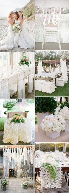 white wedding color ideas- vinatge wedding ideas