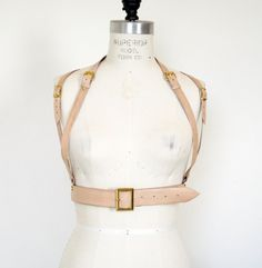 Hey, I found this really awesome Etsy listing at https://www.etsy.com/listing/203433813/the-utilitarian-beige-leather-harness