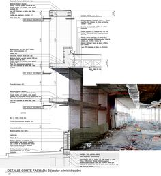 Image 11 of 11 from gallery of 10 Exemplary Ways to Represent Architectonic Construction Details. via © Santiago Viale + Ian Dutari + Alejandro Paz Detail Architecture, Architecture People, Architecture Graphics, Architecture Student, Architecture Drawings, Contemporary Architecture, Landscape Architecture, Interior Architecture, Healthcare Architecture