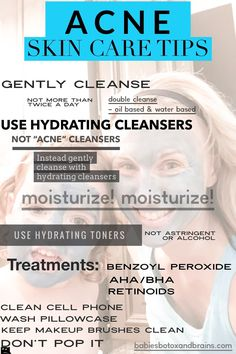 How to clear up ACNE with these simple skin care tips. Establishing well hydrated, non irritated skin may clear up acne without any additional steps, so focus on hydration. Then add treatments. See full article for how to be acne free! Cystic Acne Treatment, Back Acne Treatment, Acne Treatments, Skin Care Regimen, Skin Care Tips, Skin Tips, Hydrating Toner, Acne Skin
