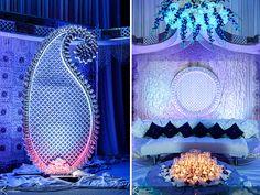 gorgeous blue stage for pakistani wedding!