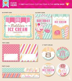 Ice Cream Shoppe Birthday Party Theme for Pottery Barn Kids {+ Free Printables!} designed by Hostess with the Mostess #hwtm