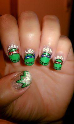 My TMNT nails :)