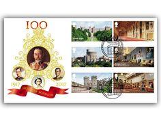 -Celebrating Windsor Castle -Full set of 6 Windsor Castle stamps - Celebrating 100 Years of the House of Windsor -Windsor postmark (15th February, 2017) -Release Date 15.02.2017
