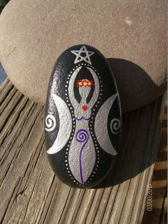 Made to Order Moon Goddess Altar Stone with by MarciaStewartArt