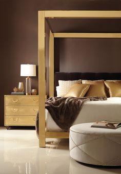 Brass Canopy Bed