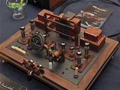 Steampunk amp | steampunk | tube | amp| design | art | brass | copper | custom workshop