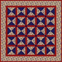 Try this easy quilt, made entirely from quarter square triangle units. It's a nice choice for summer picnics -- or to keep in the car during wintry weather.