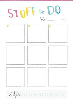 Free Stuff To Do Printable
