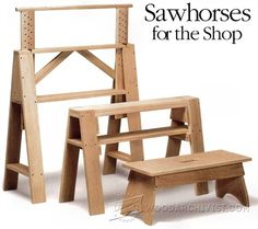 Sawhorses for The Shop - Workshop Solutions Plans, Tips and Tricks…