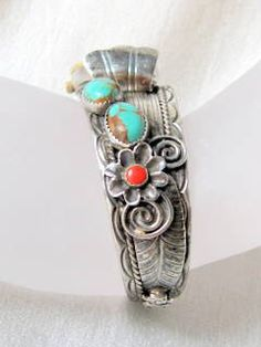 Vintage Native American Sterling Cuff With by AntiquesduJour, $149.99