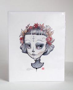 Dia de los Muertos  Leala   8 x 10 Limited Edition by mabgraves, $45.00