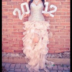 prom night photo idea - take a photo of you in your prom dress while holding the glittered numbers of your graduation year!