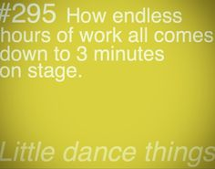 Dancer Problems…