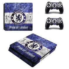 Chelsea FC Play Station 4 slim skin decal for console and 2 controllers