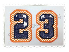 Double Applique Varsity Numbers Machine by RivermillEmbroidery, $3.95