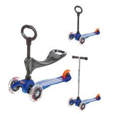 Trottinette mini micro seat bleue Micro pour enfant de 1 an à 6 ans - Oxybul éveil et jeux