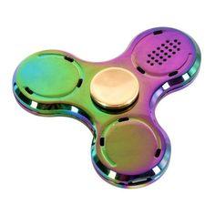 Led Light Bluetooth Speaker Music Fidget Spinner Finger Metal EDC Colorful Hand Spinner