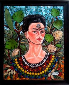 Frida Kahlo Mosaic Art Work