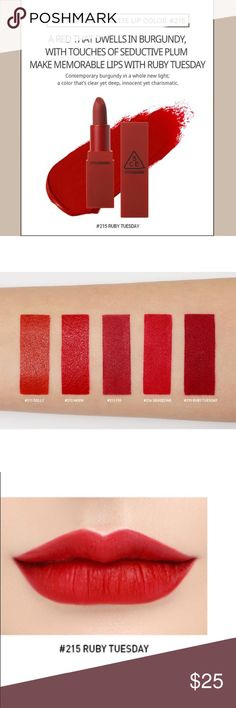 sports shoes 045d4 bb6c6 New Red Recipe Matte Lipstick New with seal, Red Recipe Matte Lipstick in  the shade Ruby Tuesday. Contains Authentic product, does not come with the  box ...