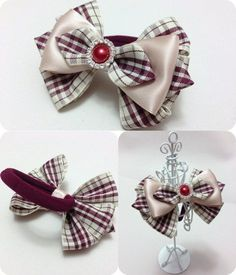 Ribbon Hair Bows, Diy Hair Bows, Diy Bow, Bow Making Tutorials, Fancy Bows, Hair Bow Tutorial, Barrettes, Hair Decorations, Boutique Hair Bows