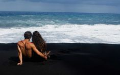 From a nude beach in Hawaii to a glacial coast in Iceland, these black sand beaches are amazing.The image of a serene beach is often one that includes dusty white sands that stretch untouched. Lanai Island, Big Island Hawaii, Island Beach, Beach Pink, Nude Beach, Beautiful Beach Sunset, Beautiful Beaches, Jamaica Vacation, Vacation Trips