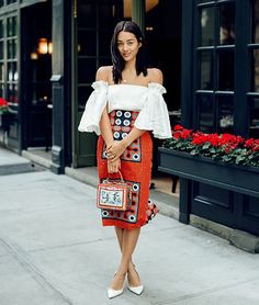 """Nothing says """"summer romance"""" like bare shoulders and a little extra flounce.Click through to shop the look."""