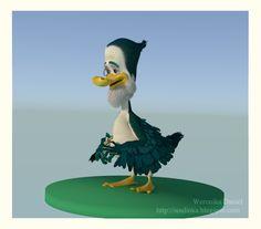 duck 3d in blender