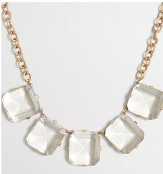 Jcrew crystal cube necklace