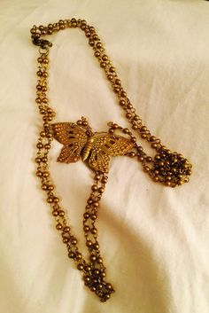 Vintage Butterfly Neclace by FoundatNostalgiaShop on Etsy