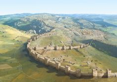 Hattusa: capital of the Hittite Empire between 1420 and 1200 BC. Hattusa now lies in ruins beside Boğazkale, Turkey. More birds eye view posts >>
