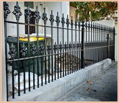Remarkable Painting Wrought Iron Fence Wrought Iron Fences, Front Fence, Home Improvement, Stairs, Painting, Home Decor, Stairway, Decoration Home, Staircases