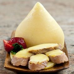 Spanish Cheese Tetilla:  a very mild cow's milk cheese from the Galicia region