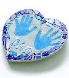 For my outside deck or around my fire-pit with my grand babies hand prints and/or foot prints.....love it!