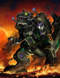 Decepticon Trypticon Artwork From Transformers Legends Game