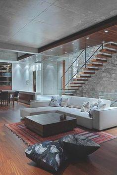 Simplesmente amei. Moderna, cool, minimalista e aconchegante. Combinação perfeita!